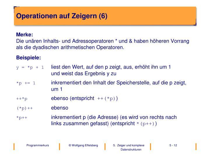 Operationen auf Zeigern (6)