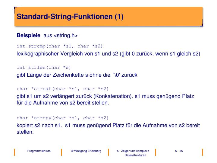 Standard-String-Funktionen (1)