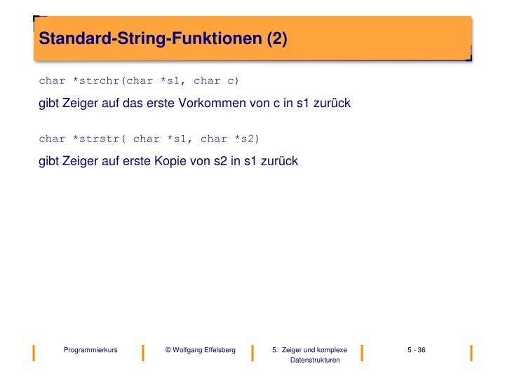 Standard-String-Funktionen (2)