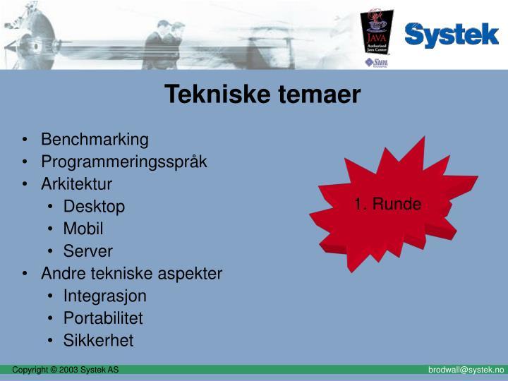 Tekniske temaer