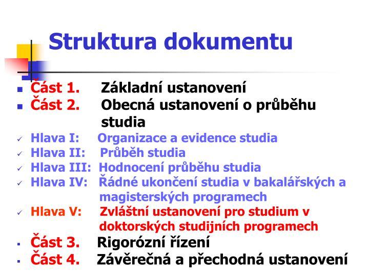 Struktura dokumentu