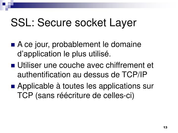 SSL: Secure socket Layer
