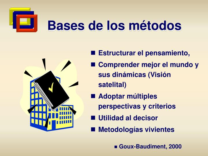 Bases de los métodos