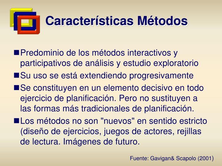 Características Métodos