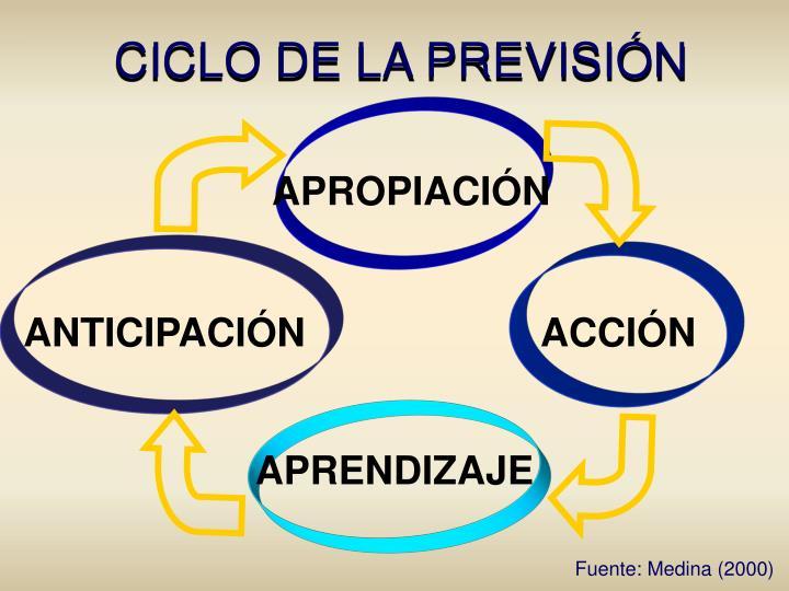 CICLO DE LA PREVISIÓN