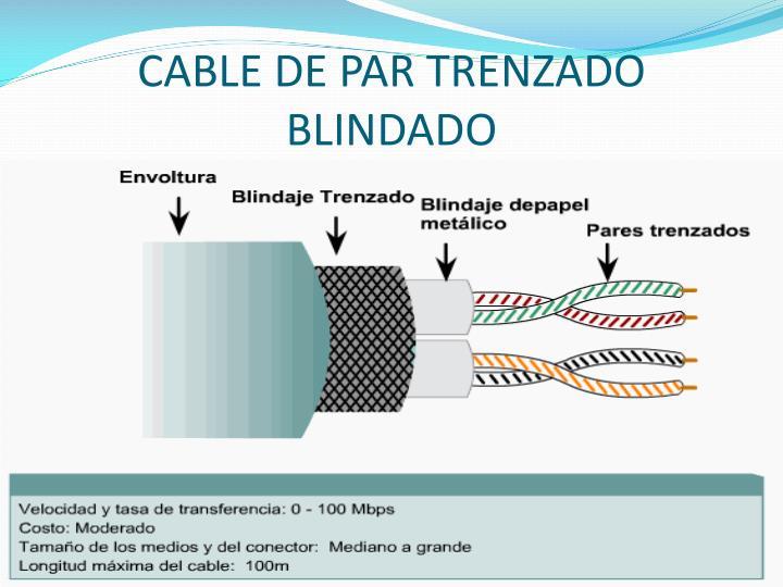 CABLE DE PAR TRENZADO BLINDADO