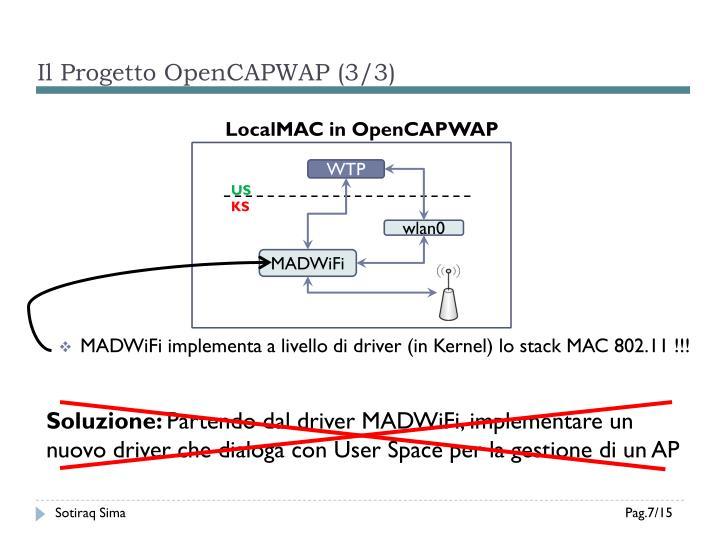 Il Progetto OpenCAPWAP (3/3)
