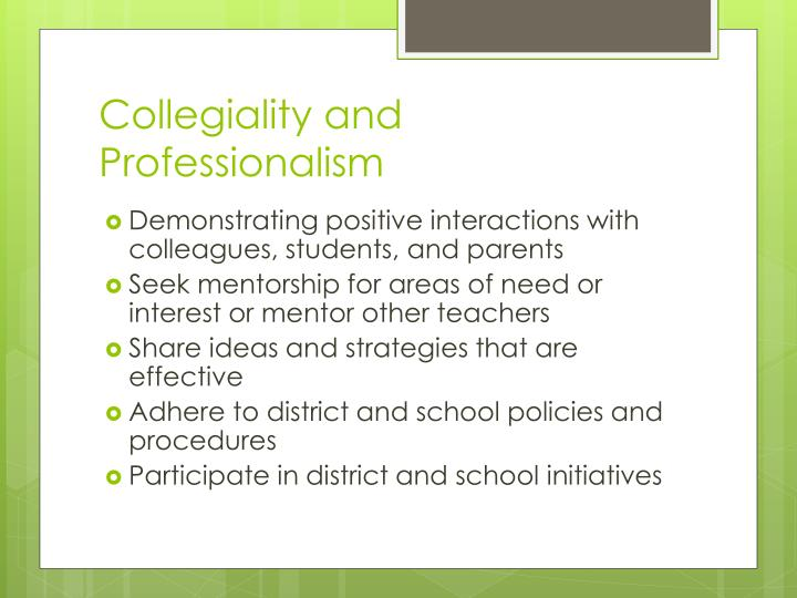 Collegiality and Professionalism