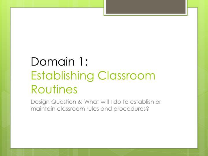 Domain 1: