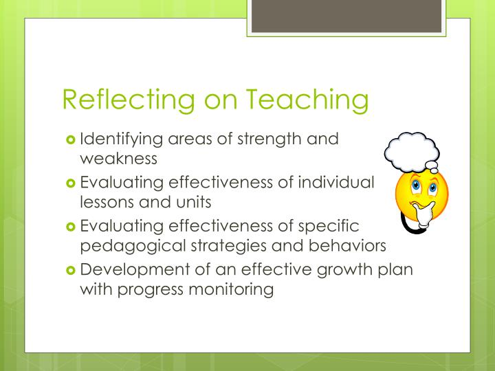 Reflecting on Teaching