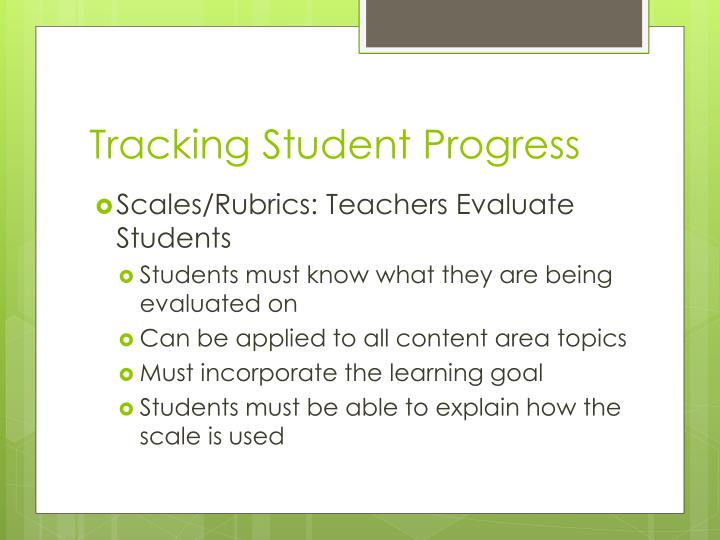 Tracking Student Progress