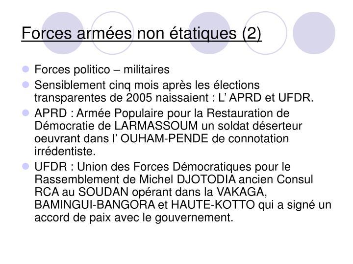 Forces armées non étatiques (2)