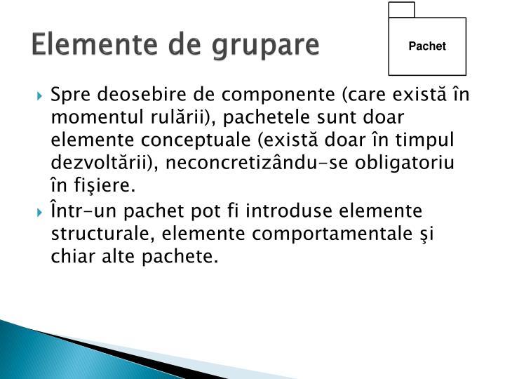 Elemente de grupare