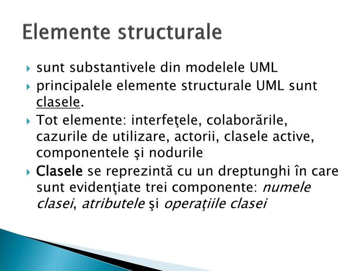 Elemente structurale