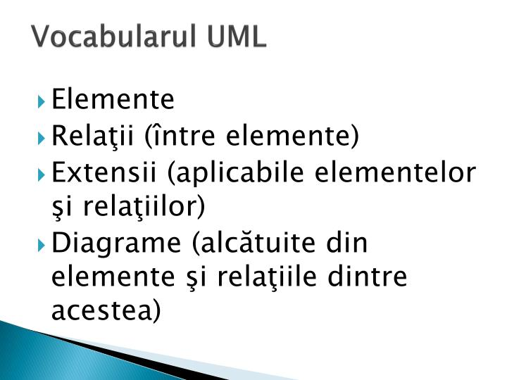 Vocabularul UML