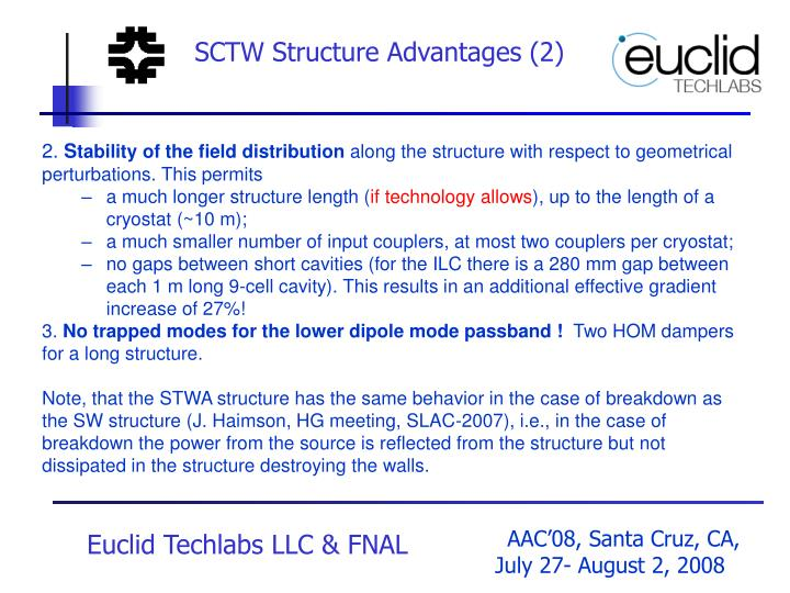 SCTW Structure Advantages (2)