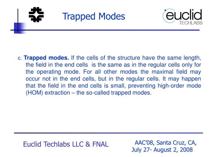 Trapped Modes