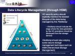 data lifecycle management through hsm