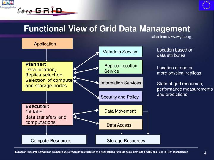 Functional View of Grid Data Management