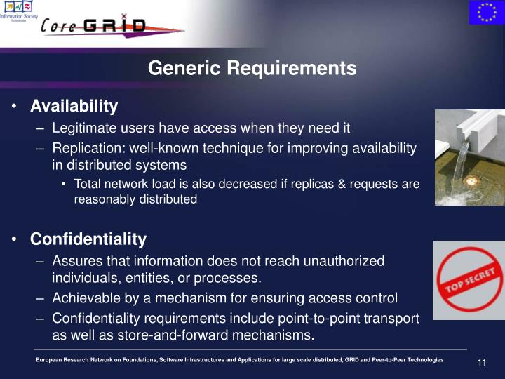 Generic Requirements