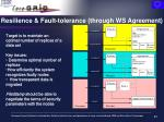 resilience fault tolerance through ws agreement