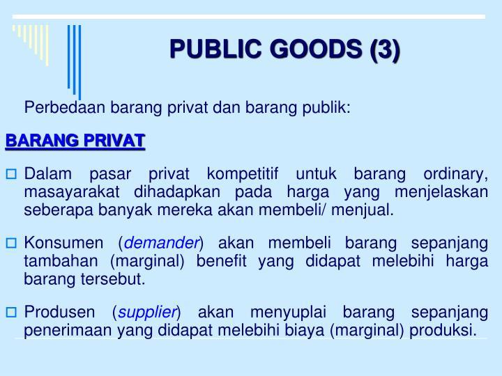 PUBLIC GOODS (3)