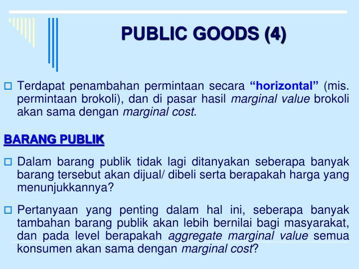 PUBLIC GOODS (4)