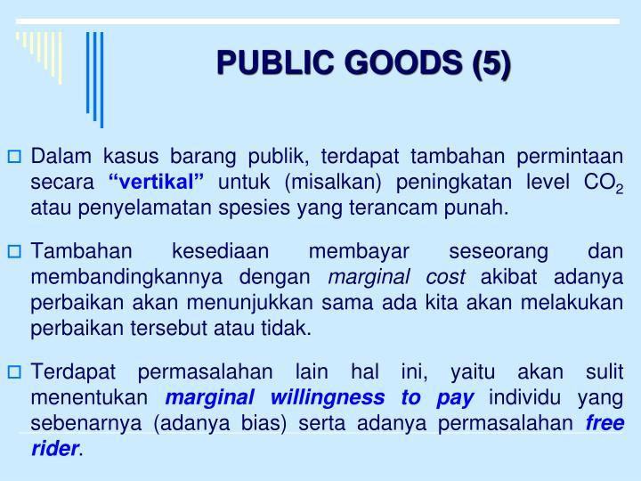 PUBLIC GOODS (5)