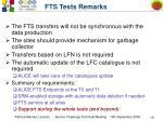 fts tests remarks