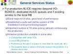 general services status