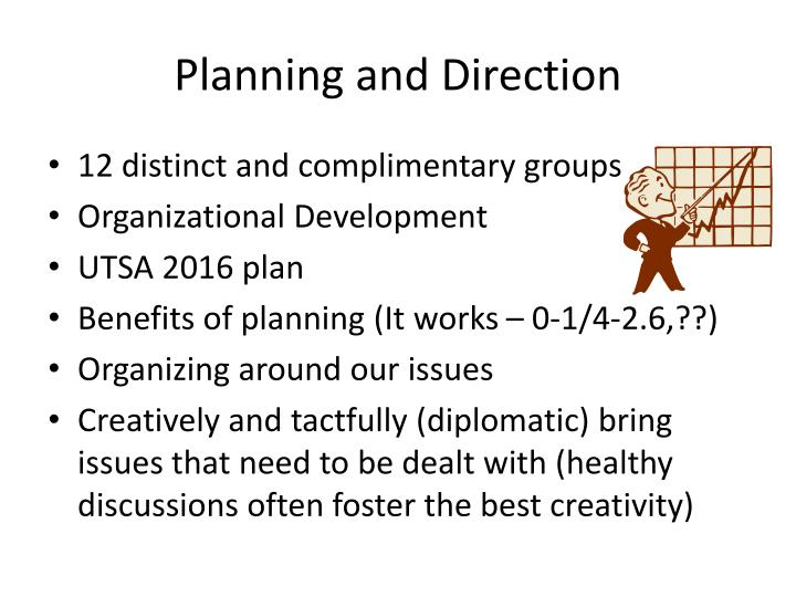 Planning and Direction