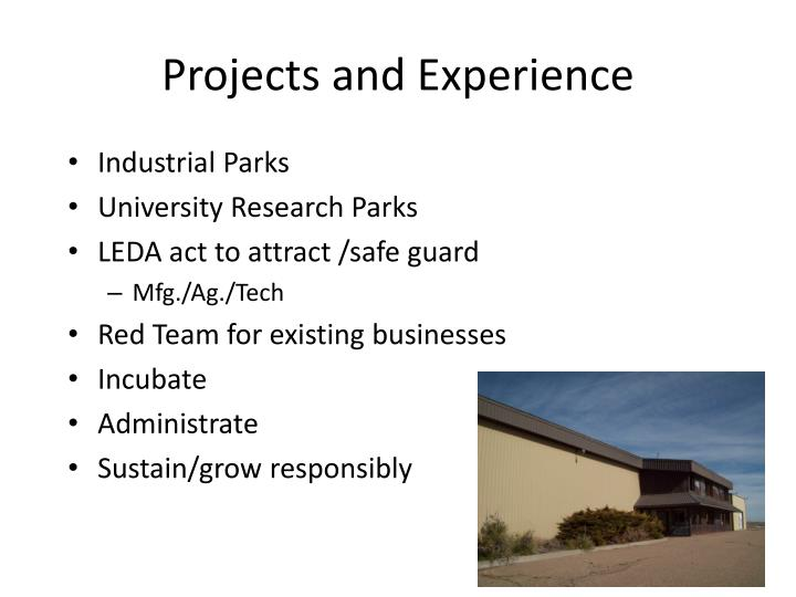 Projects and Experience