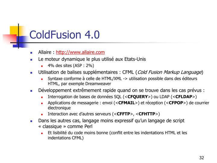 ColdFusion 4.0