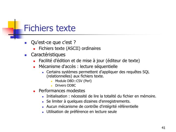 Fichiers texte