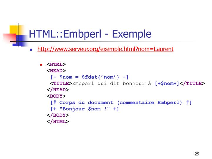 HTML::Embperl - Exemple