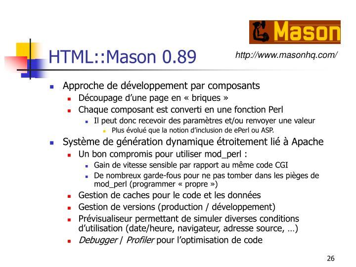 HTML::Mason 0.89