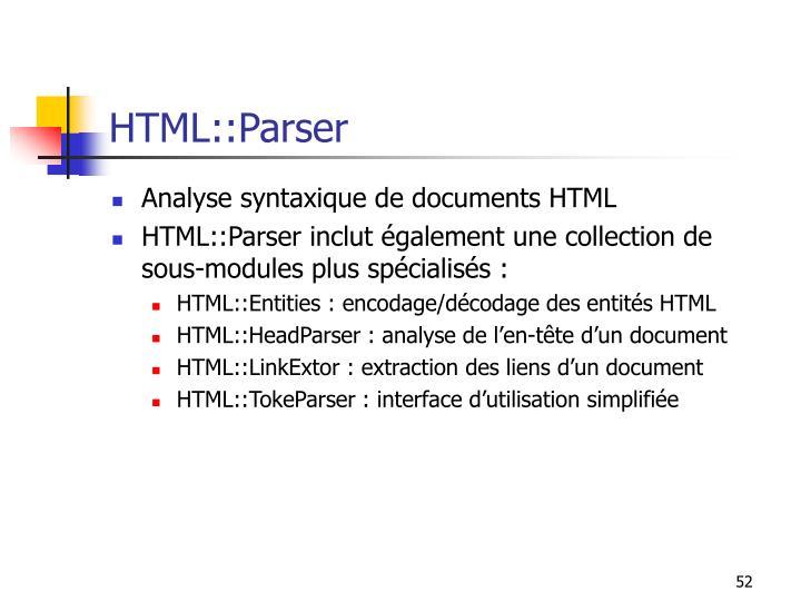 HTML::Parser