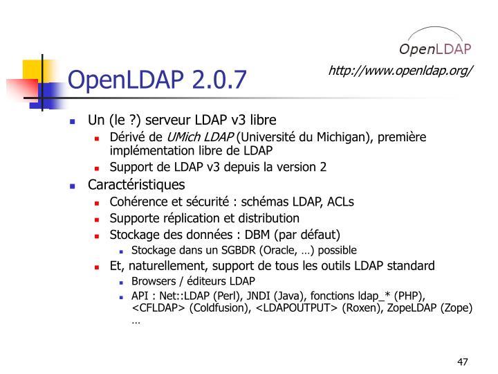 OpenLDAP 2.0.7