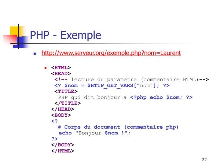 PHP - Exemple