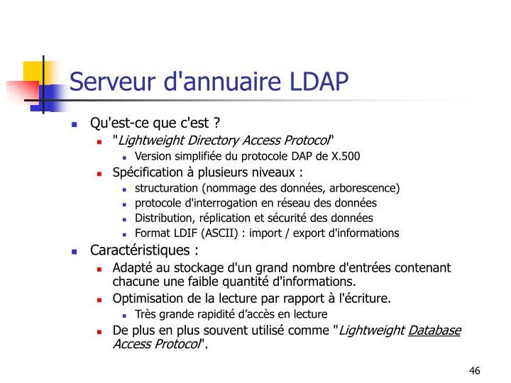 Serveur d'annuaire LDAP