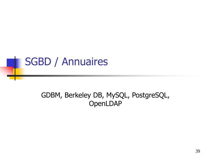 SGBD / Annuaires