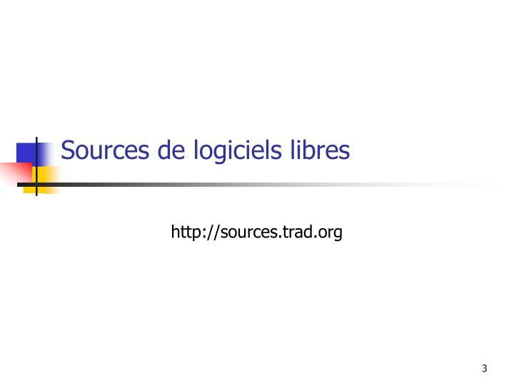 Sources de logiciels libres
