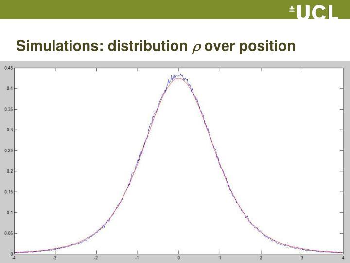 Simulations: distribution