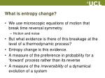 what is entropy change