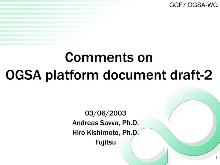 Comments on ogsa platform document draft 2