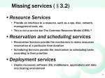 missing services 3 2