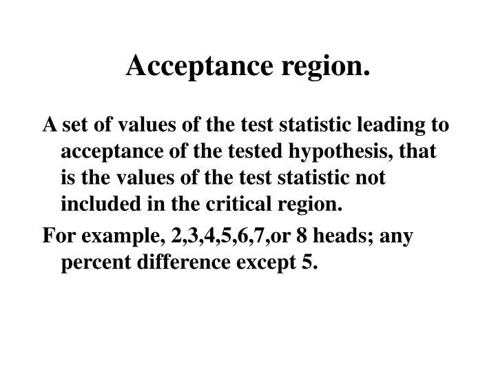Acceptance region.