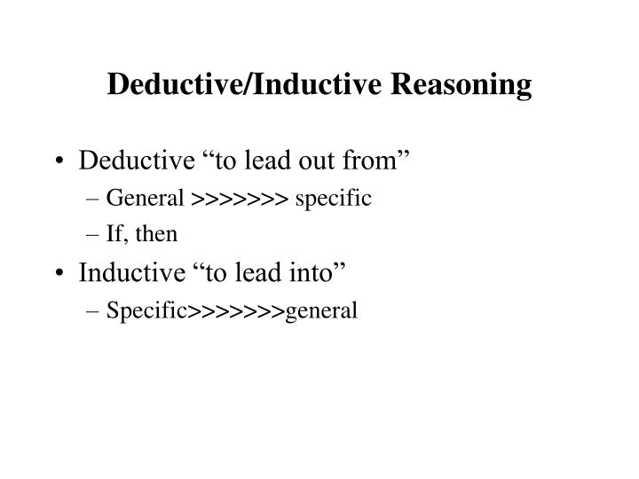 Deductive inductive reasoning