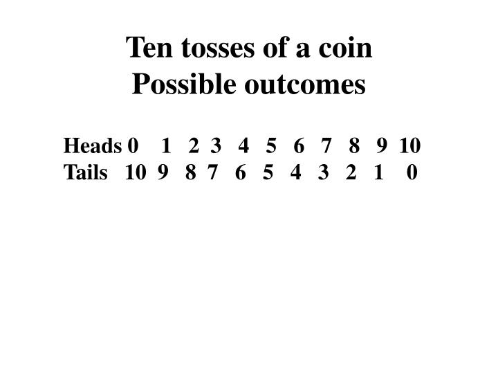 Ten tosses of a coin