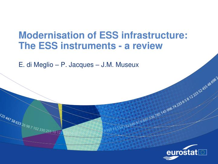 Modernisation of ess infrastructure the ess instruments a review